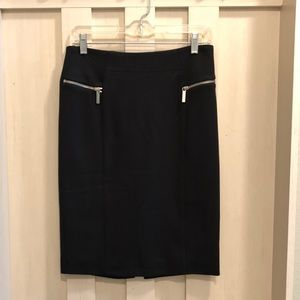 Black Lined Michael Kors Skirt